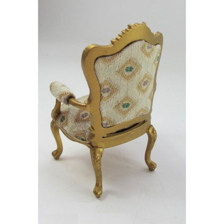 Louis XV Gilded Fauteuil Arm Chair-Painted Gold ...