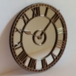 Mirror Clock-Copper