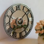 Mirror-Clock - Distressed-Sliver