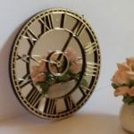 Mirror Clock - Gold