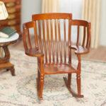 Walnut Big Family Rocking Chair P6521