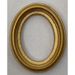 Gold Frame Oval RF12a