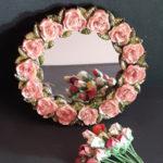Rose Framed Mirror
